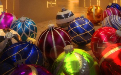 Xmas balls – Procedural texturing